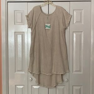 Umgee beige hi/lo dress